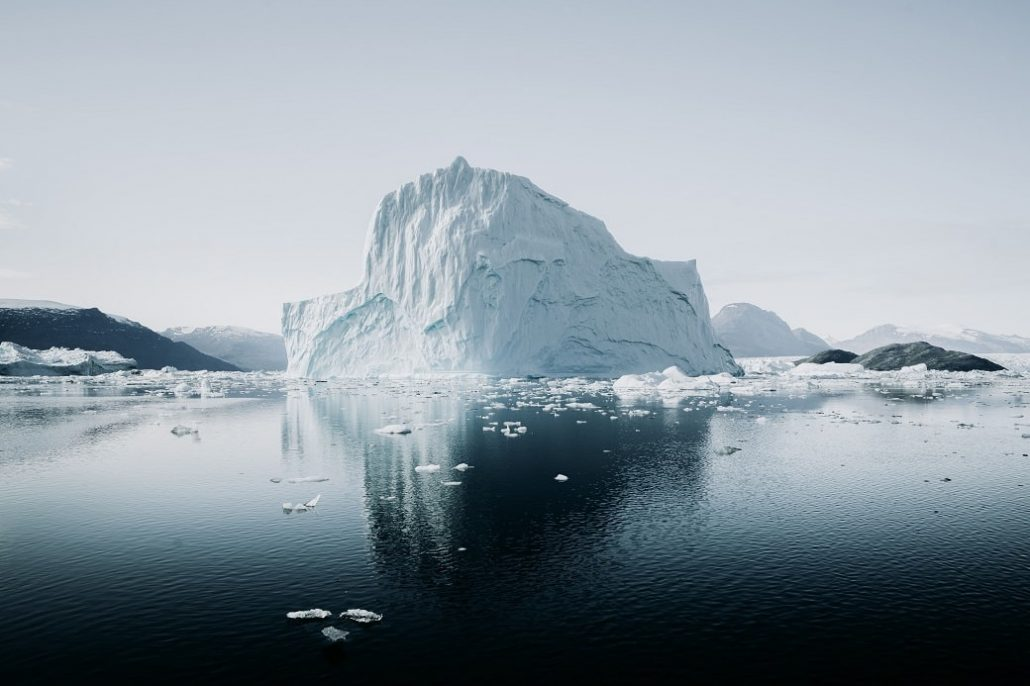 iceberg evening